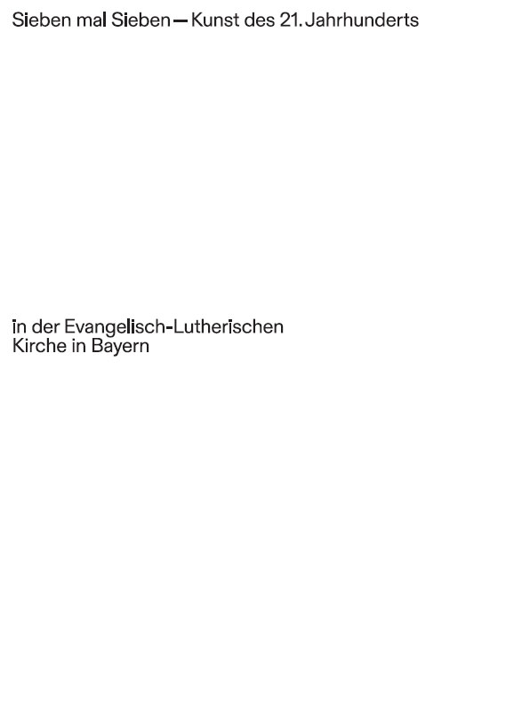 Helmut Braun (Hrsg.), Sieben mal Sieben – Kunst des 21. Jahrhunderts in der Evangelisch-Lutherischen Kirche in Bayern, 232 Seiten, 140 Abb., Format 24 x 33 cm, 1. Auflage 2019, Kunstverlag Josef Fink, ISBN 978-3-95976-207-6