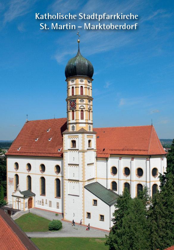 Cordula Böhm, Katholische Stadtpfarrkirche St. Martin - Marktoberdorf, 40 Seiten, 36 Abb., Format 13,6 x 19 cm, 2., aktualisierte Auflage 2020, Kunstverlag Josef Fink, ISBN 978-3-89870-536-3